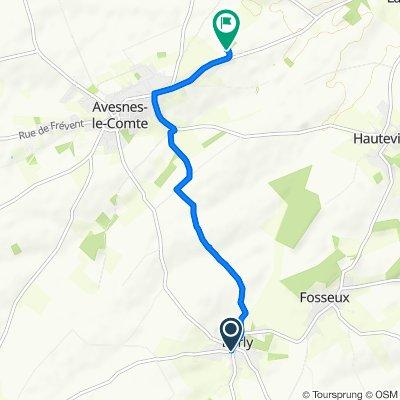 De 2 Rue de Saulty, Barly à 980 Avenue du Président François Mitterrand, Avesnes-le-Comte