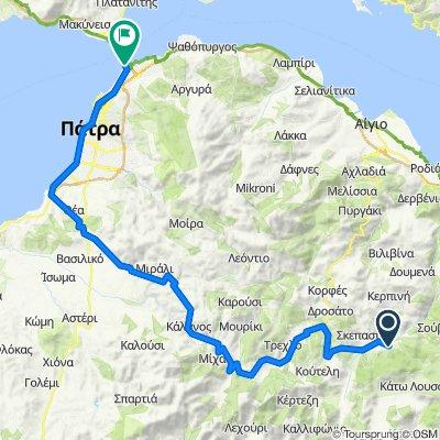 Kalavrita - Patras on GPSies.com