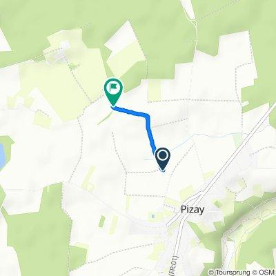 Itinéraire modéré en Pizay