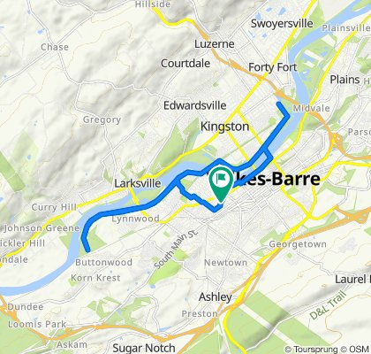 510 S River St, Wilkes-Barre to 504 S River St, Wilkes-Barre