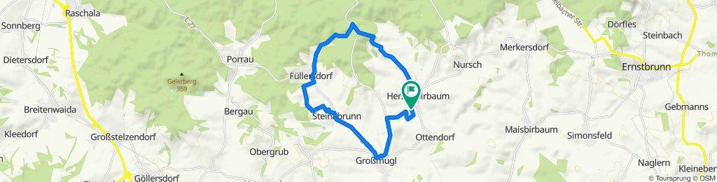 Langzame rit in Herzogbirbaum