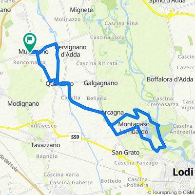 Steady ride in Mulazzano