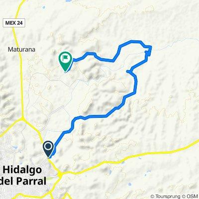 Ruta desde Carretera Hidalgo del Parral-Nuevo Palomas, Hidalgo del Parral