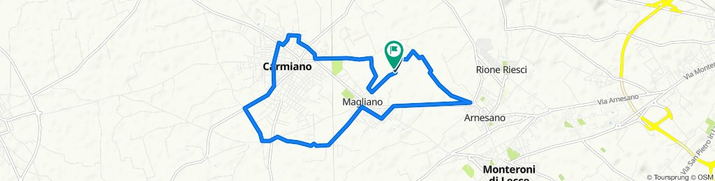 Restful route in Carmiano
