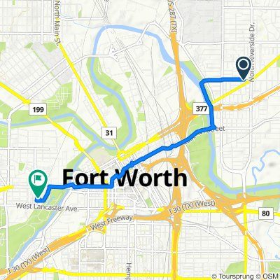 Restful route in Fort Worth