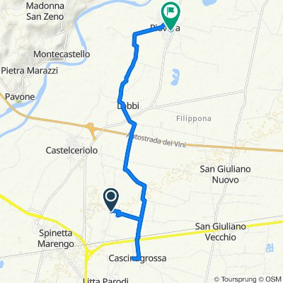 Relaxed route in Piovera
