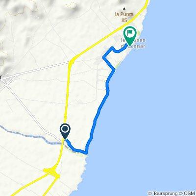Moderate route in Alcanar