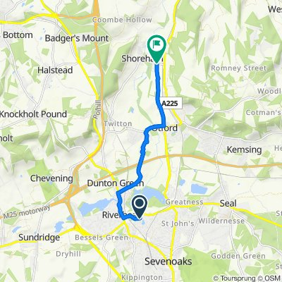 Circular Shoreham Eynsford to Otford
