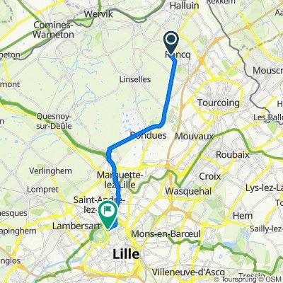 De Cité Couvreur 38, Roncq à Rue du Magasin 36, Lille