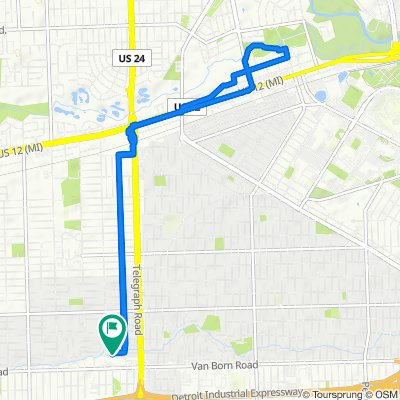 Moderate route in Dearborn Heights