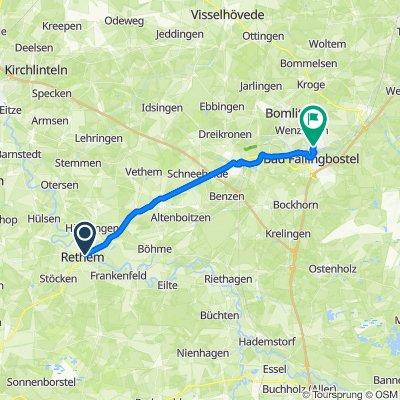 Lange Straße 6, Rethem nach Am Hang 4–8, Bad Fallingbostel