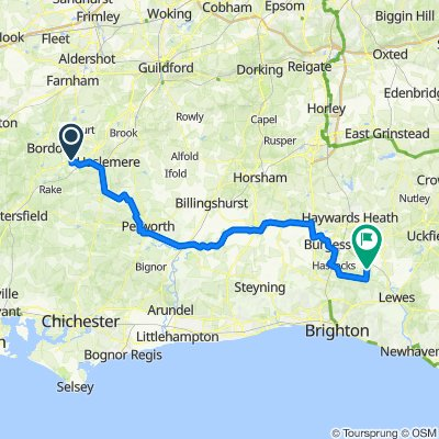 Bramshott to East Chiltington