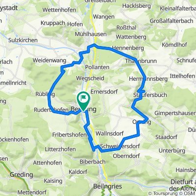 Berchinger Runde mit Klosterbrauerei Plankstetten