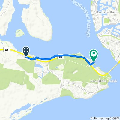 Moderate route in Sandstone Point