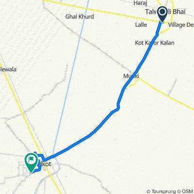 Ferozepur - Ludhiana Road to Faridkot
