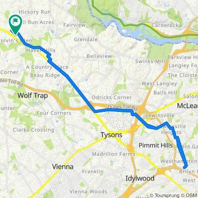 1194 Lees Meadow Ct, Great Falls to 1194 Lees Meadow Ct, Great Falls