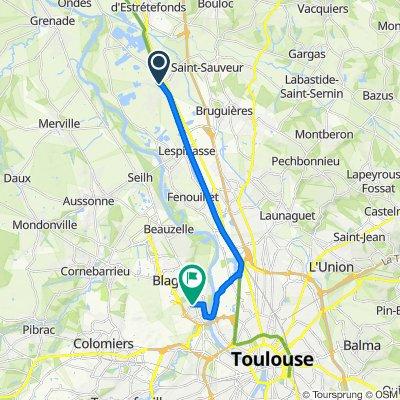 De 5 Impasse de la Batellerie, Saint-Jory à Rue de Guyenne, Blagnac