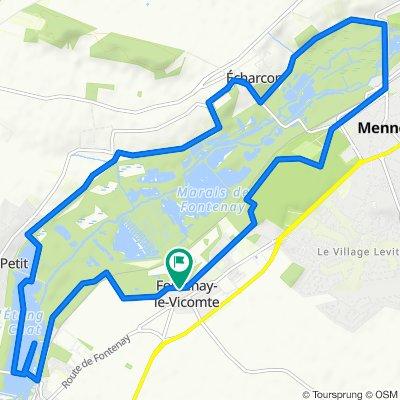 De Rue de la Salle 27, Fontenay-le-Vicomte à Rue de la Salle 27, Fontenay-le-Vicomte