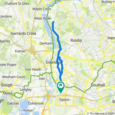 West Drayton to Hareham and back to West Drayton