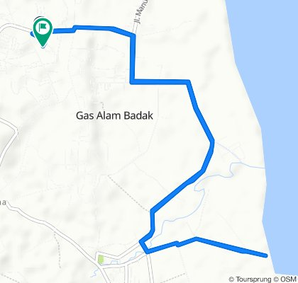 RT. 12 11, Muara Badak to Jalan Sultan Hasanuddin, Muara Badak
