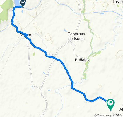 High-speed route in Albero Bajo