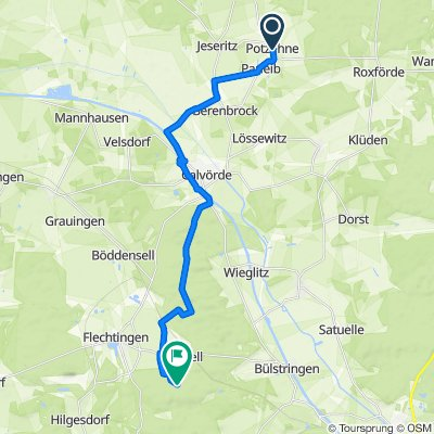 Am Bad 7, Gardelegen nach Unnamed Road, Flechtingen