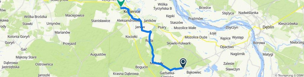 Trasa z Jana Kochanowskiego 249, Garbatka-Letnisko