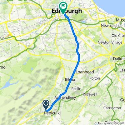 Penicuik to Edinburgh Castle