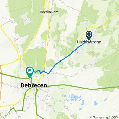 Steady ride in Debrecen