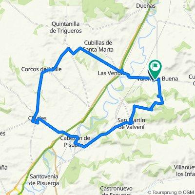 De Calle de Romeruela, 13, Valoria la Buena a Calle de Ramón y Cajal, 6, Valoria la Buena