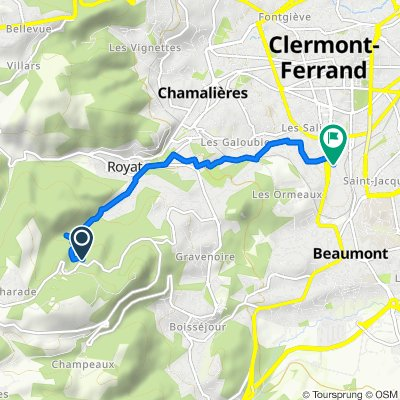De D5F, Royat à Boulevard Joseph Girod 42, Clermont-Ferrand