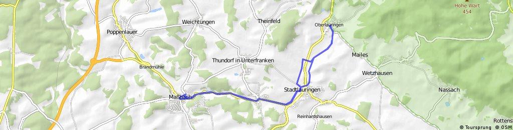 Oberlauringen - Maßbach Runde