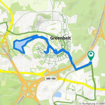 7903 Mandan Rd, Greenbelt to 7821 Mandan Rd, Greenbelt
