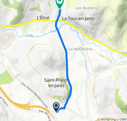 Easy ride in Saint-Priest-en-Jarez