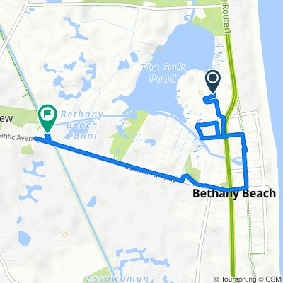 Route to 994 Lakeview Dr, Ocean View