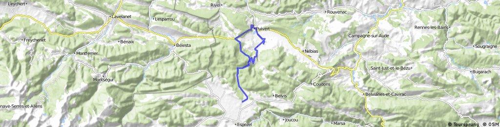 Puivert-Montplaisir-Puivert par les cols de la Babourade et du Chandelier