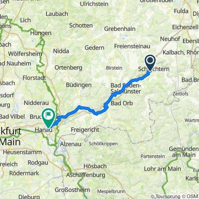 Schlüchtern - Kinzigstausee - Hanau
