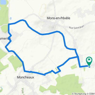 Itinéraire modéré en Faumont
