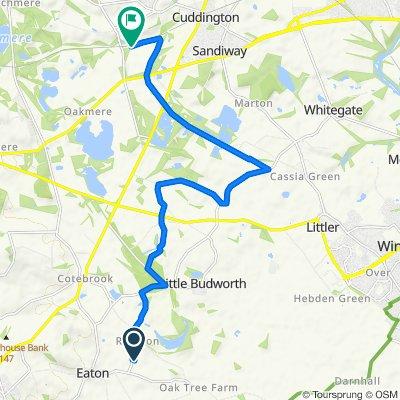 Fast ride in Northwich