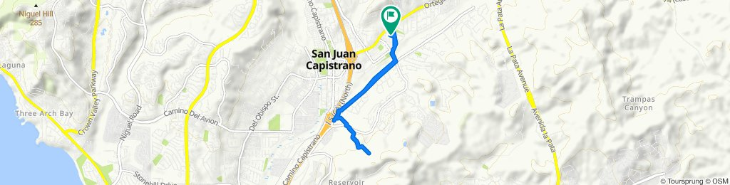 Moderate route in San Juan Capistrano