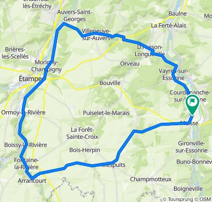 High-speed route in Maisse