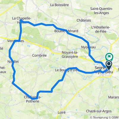 De Rue Lamartine 21, Segré-en-Anjou Bleu à Lotissement le Hameau du Stade 4, Segré-en-Anjou Bleu