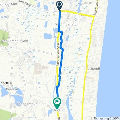 Chennai to Navallur, Chennai