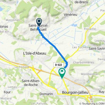 1–205 Montée de la Cure, Saint-Marcel-Bel-Accueil to 5 Petite Rue de la Plaine, Bourgoin-Jallieu