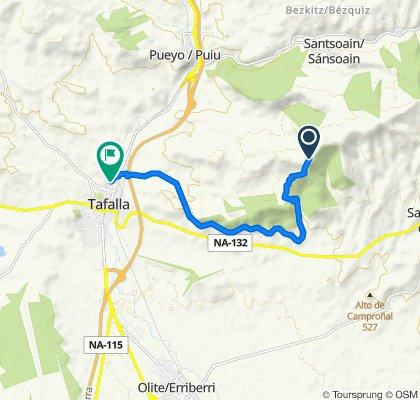 Moderate route in Tafalla