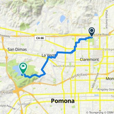 213 Wagner Dr, Claremont to Via Verde, San Dimas