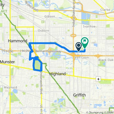 Sporty route in Gary