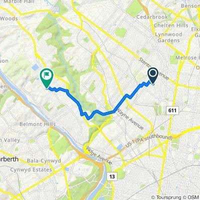 5520 Matthews St, Philadelphia to 7201 Ridge Ave, Philadelphia