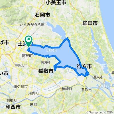 Relaxed route in Tsuchiura-Shi