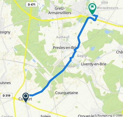 De 36 Rue Jean Jaurès, Coubert à 3–5 Route de Fontenay, Tournan-en-Brie
